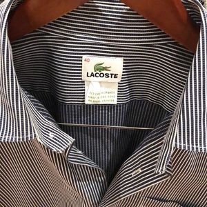 Men's Regular Fit Striped Cotton Poplin Shirt. M